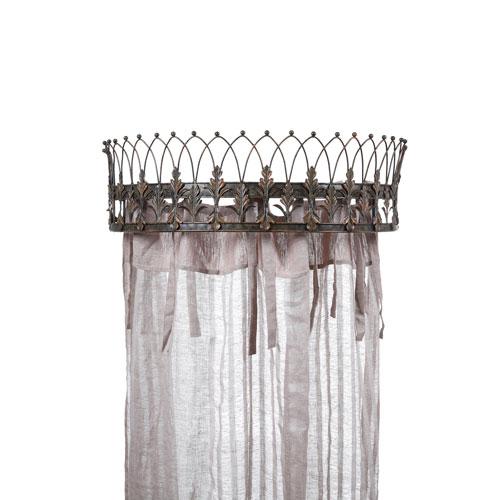 3R Studio Rust 29 In. Metal Curtain Crown