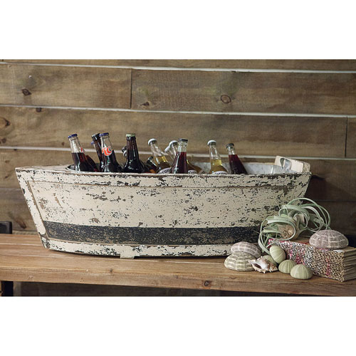 Wood Boat with Tin Insert