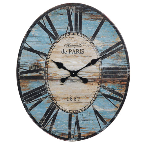 3R Studio Turquoise Oval Wall Clock