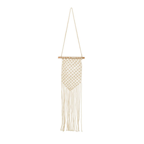 Bloomingville Cream and Off White Cotton Wall Hanger