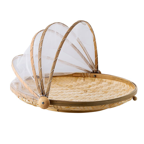Bamboo Food Cover with Tray