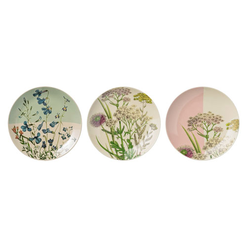 Botanic Ceramic Plate, Set of 3