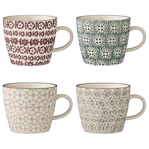 Karine Ceramic Mug, Set of 4