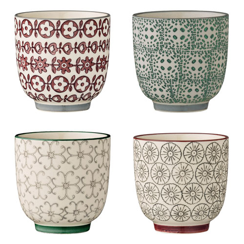 Karine Ceramic Cup, Set of 4