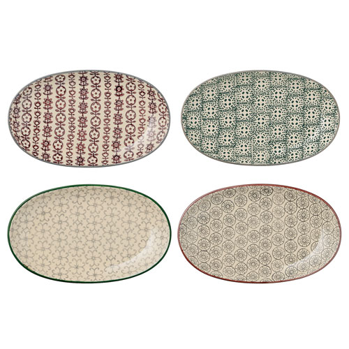Karine Ceramic Plate,  Set of 4