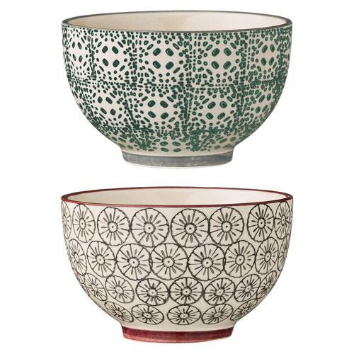 Karine Round Ceramic Bowl, Set of 2