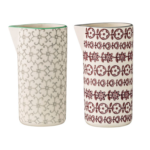 Karine Ceramic Pitcher, Set of 2