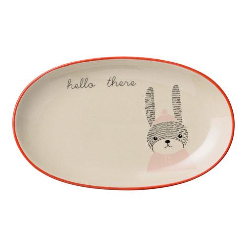 Mollie Rabbit Ceramic Oval Plate