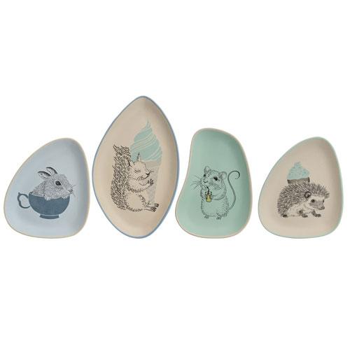 Bloomingville Albert Ceramic Plate, Set of 4
