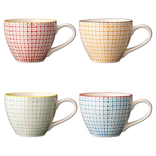 Bloomingville Carla Ceramic Mug, Set of 4
