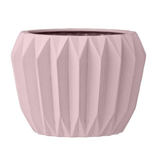 Bloomingville Nude Ceramic Fluted Flower Pot