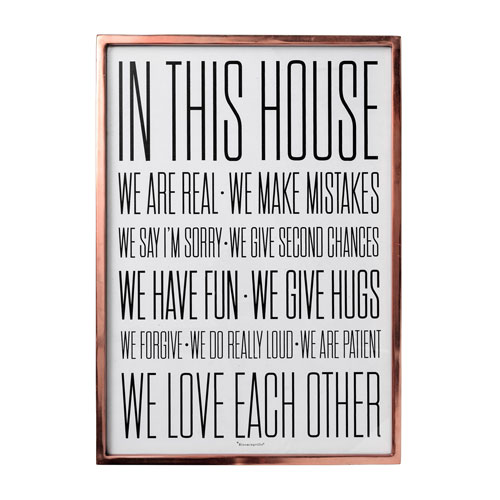 In This House..Framed Glass Wall Decor