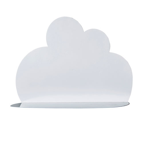 White Metal Cloud Shaped Shelf