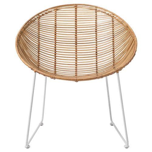 Natural Rattan Lounge Chair
