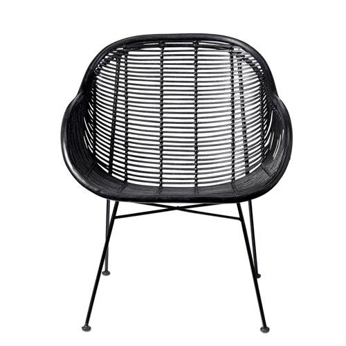 Bloomingville Black Rattan Arm Chair