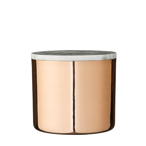 Copper and Gray Marble Jar with Lid