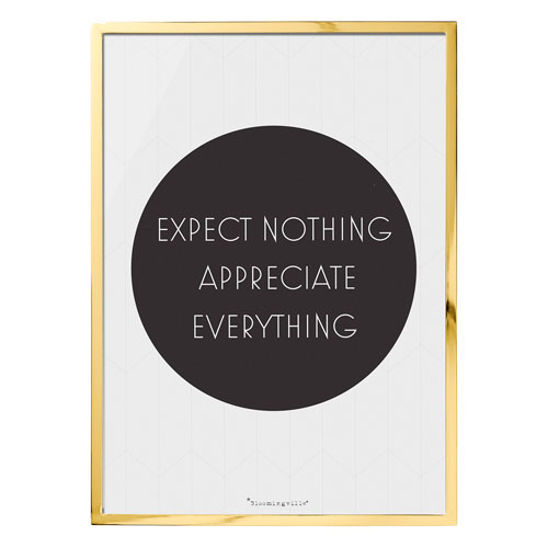 Bloomingville Expect Nothing Framed Wall Décor