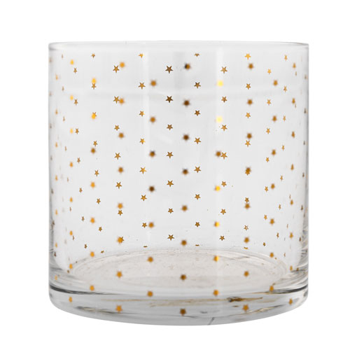 Bloomingville Drinking Glass with Gold Stars