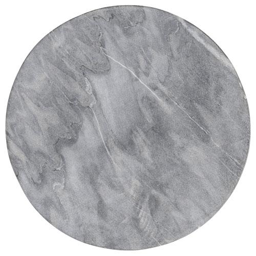Gray Marble Round Tray