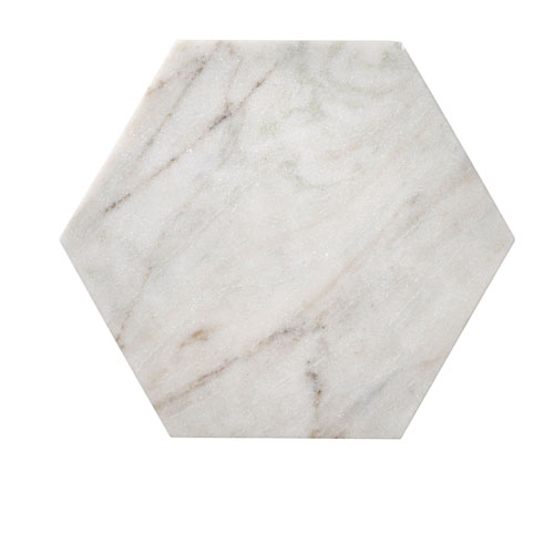 Bloomingville White Marble Hexagon Tray