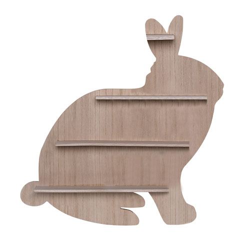 Wood Bunny Shaped Shelf