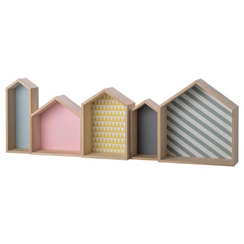 Wood House Shaped Display Box