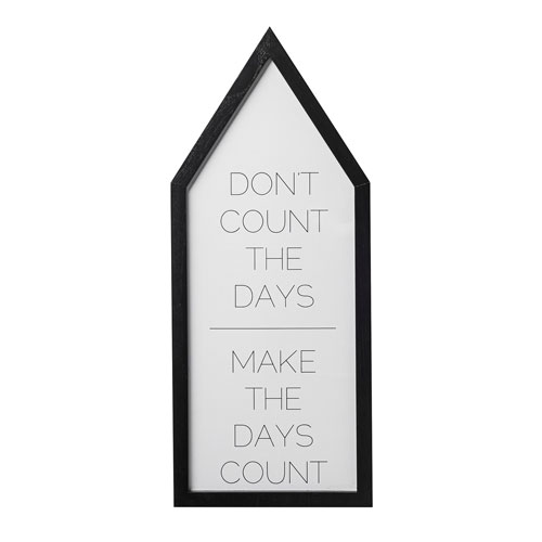 Dont Count the Days Wood House Shaped Wall Decor