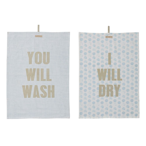 Bloomingville Wash and Dry Cotton Kitchen Towel, Set of 2