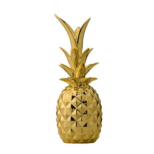 Gold Ceramic Pineapple
