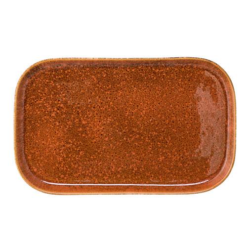Bloomingville Brown and Orange Ceramic Tray