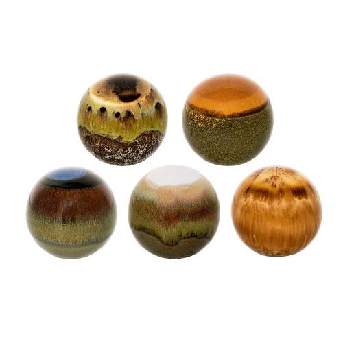 Bloomingville Ceramic Decorative Orb, Set of 5