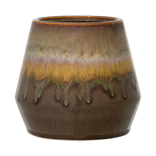 Bloomingville Green Ceramic Flower Pot