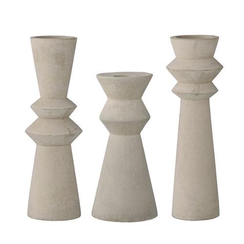 Concrete Taper Candleholder, Set of 3