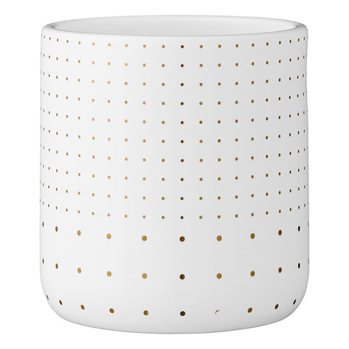 Bloomingville White and Gold Ceramic Flower Pot