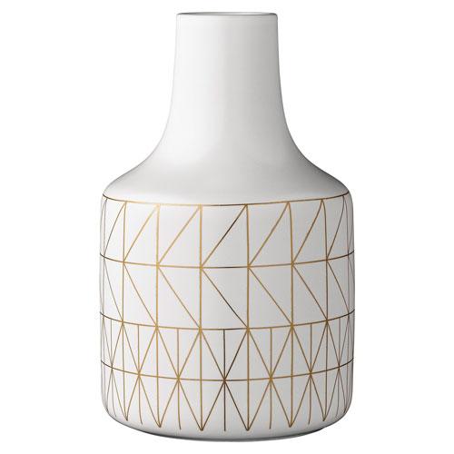 Bloomingville White and Gold Ceramic Vase