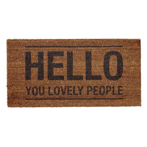 Hello Lovely People Coir Door Mat