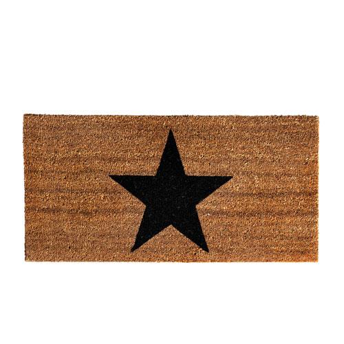 Star Coir Door Mat