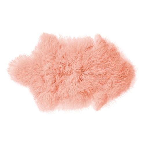 Bloomingville Pink Mongolian Lamb Fur