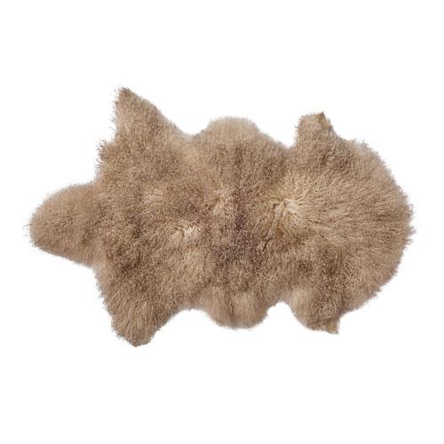 Sand Mongolian Lamb Fur
