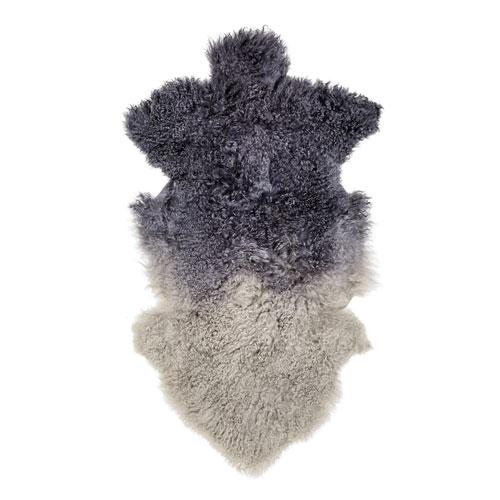 Navy and Gray Tibetan Lamb Fur