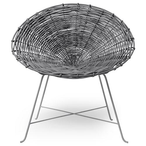 Bloomingville Gray Rattan Lounge Chair