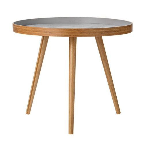 Natural and Gray Bamboo Table