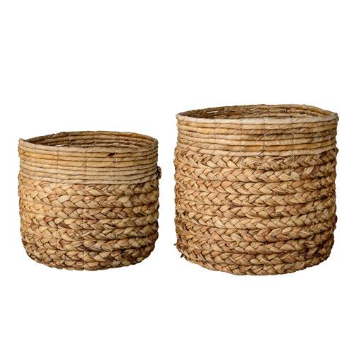 Natural Round Baskets, Set of 2