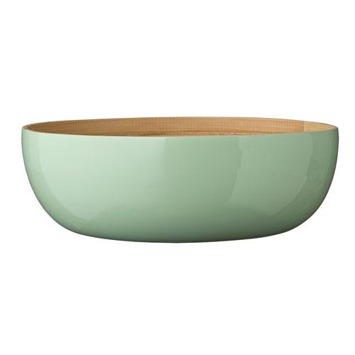 Olivia Mint Round Bamboo Salad Bowl