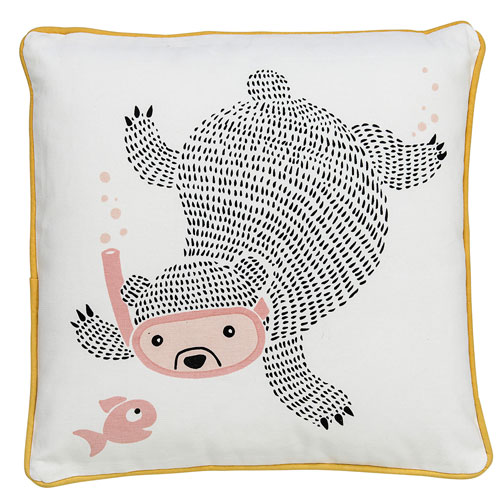 Snorkeling Bear 16 In. Pillow