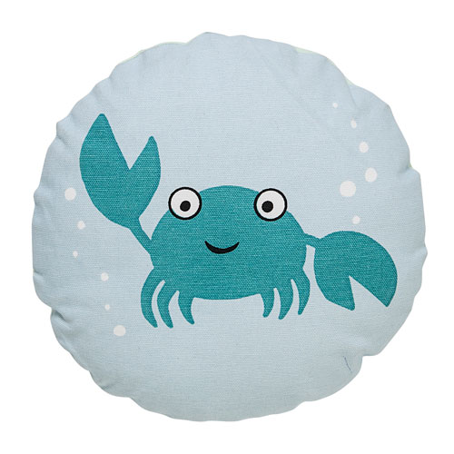 Blue Crab 10 In. Round Pillow