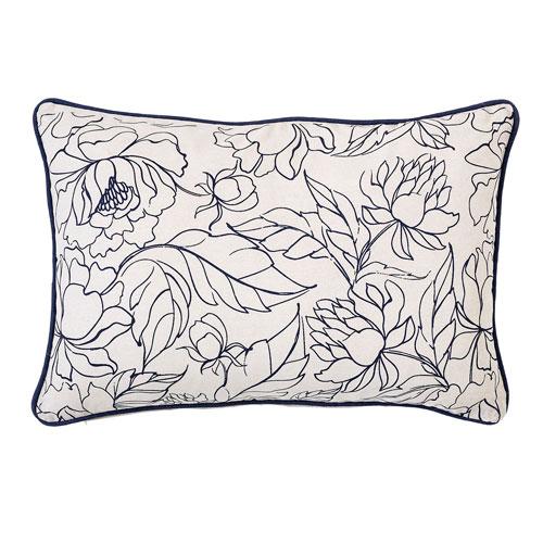Bloomingville Fleur Cotton Pillow