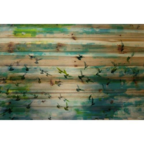 Parvez Taj Acadia Street 24 x 16 In. Painting Print on Natural Pine Wood