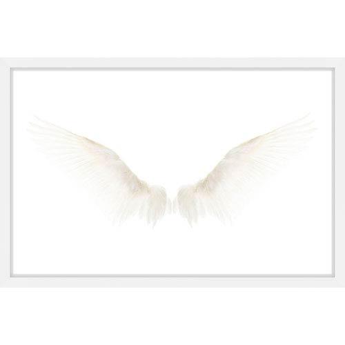 Parvez Taj White Wings 24 x 16 In. Framed Painting Print