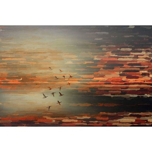 Parvez Taj Night Flight 24 x 16 In. Painting Print on Wrapped Canvas